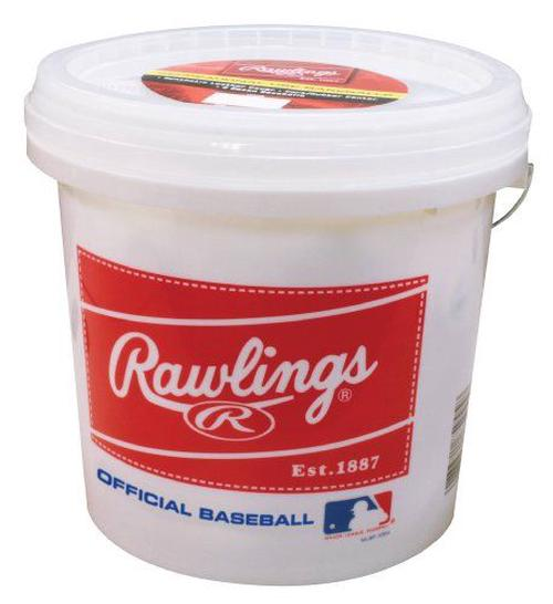Rawlings-Bucket-with-2-Dozen-ROLB3-Baseballs-NEW-Free-Shipping