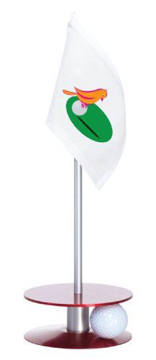 Anne-Stone-Golf-Putt-A-Round-Orange-Birdie-Flag-1-Putting-Aid-Red-Small-NEW-Fr