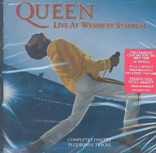 Live-At-Wembley-Stadium-Queen-New-Sealed-CD-Free-Shipping