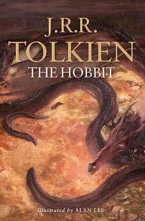 NEW-The-Hobbit-Illustrated-by-J-R-R-Tolkien-Paperback-Book-Free-Shipping
