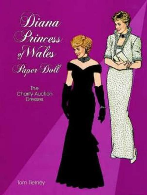 NEW-Diana-Princess-of-Wales-Paper-Doll-The-Charity-Auction-Dresses-by-Tom-Tiern