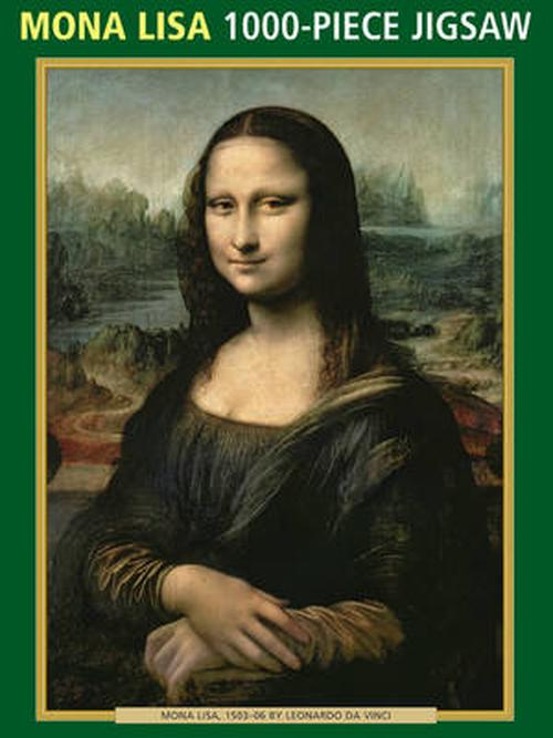 NEW-Mona-Lisa-by-Da-Vinci-1000-Piece-Puzzle-by-Peony-Press-Hardcover-Book-Engl