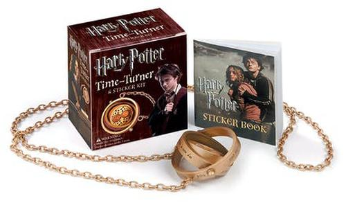 NEW-Harry-Potter-Time-Turner-Kit-and-Sticker-Book-by-Running-Press-Novelty-Book