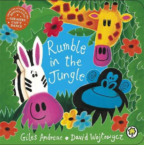 NEW-Rumble-in-the-Jungle-by-David-Wojtowycz-Board-Books-Book