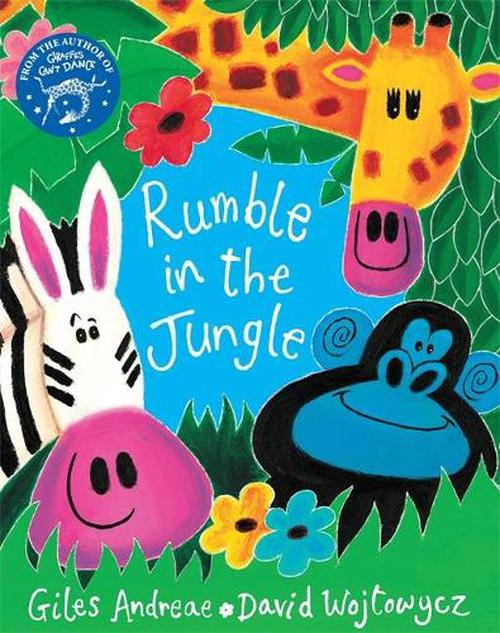 NEW-The-Rumble-in-the-Jungle-by-Giles-Andreae-Book-Merchandise-Book-Free-Shipp